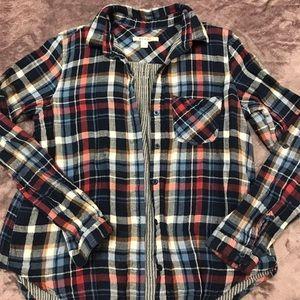 Tops - Plaid flannel button down